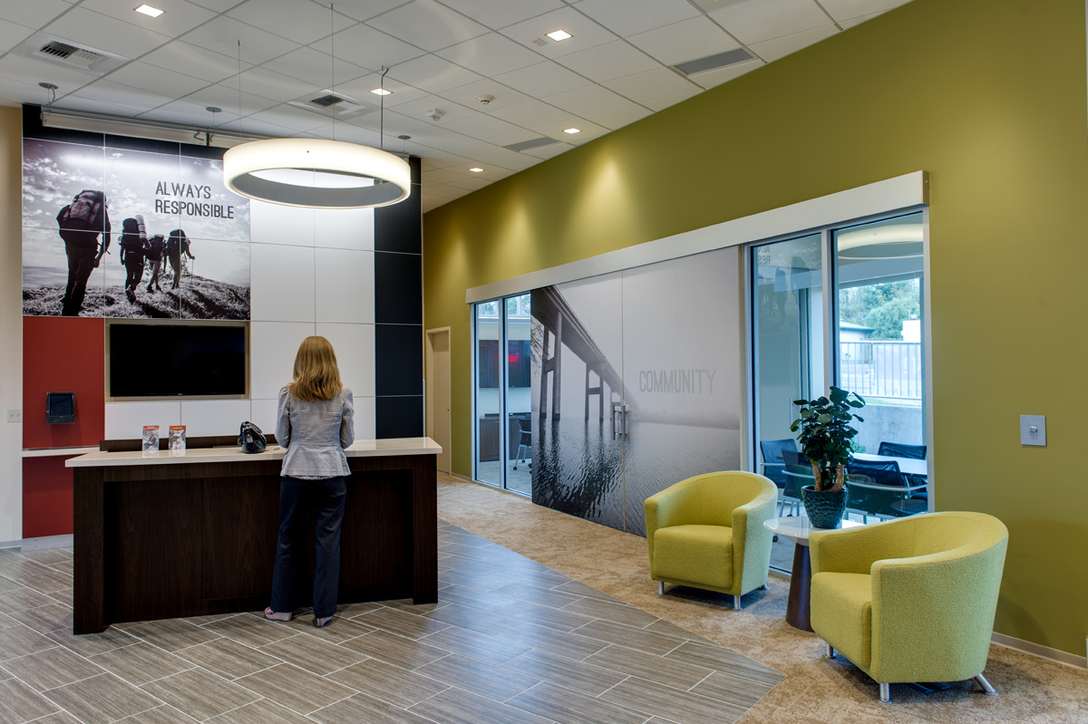 Tool To Drive Future Design Ideas In Addition We Completed Interior Super Graphics And Wayfinding Help Guide Their Customers Through The Space